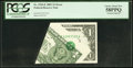 Error Notes:Foldovers, Printed Foldover Error Fr. 1926-E $1 2001 Federal Reserve Note.PCGS Choice About New 58PPQ.. ...