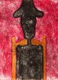 Fine Art - Work on Paper:Print, Rufino Tamayo (Mexican, 1899-1991). Hombre en Negro, 1976.Mixography in colors. 30-1/4 x 22 inches (76.8 x 55.9 cm) (sh...