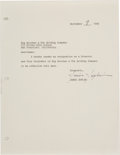 Music Memorabilia:Documents, Janis Joplin Signed Document- Her Resignation Letter as Directorand Vice President of Big Brother & The Holding Company,Sept...