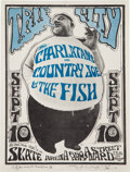 Music Memorabilia:Posters, Charlatans/Country Joe And The Fish Trip City Skate Arena ConcertHandbill AOR-2.276 Signed By Country Joe McDonald And Stanle...