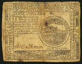 Colonial Notes:Continental Congress Issues, Continental Currency November 2, 1776 $4 Fine.. ...