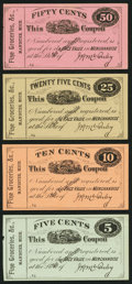 Obsoletes By State:Michigan, Manistee, MI- J. H. Mc Anley 5¢, 10¢, 25¢, 50¢ ND Remainders. ... (Total: 4 notes)