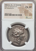Ancients:Greek, Ancients: THRACIAN ISLANDS. Thasos. Ca. 148-90/80 BC. ARtetradrachm. NGC Choice XF....