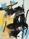 Fine Art - Work on Paper:Print, James Brooks (American, 1906-1992). Untitled, 1968. Ink,acrylic, and oil crayon on paper. 24 x 18 inches (61.0 x 45.7 c...