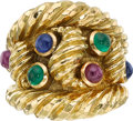Estate Jewelry:Rings, Ruby, Emerald, Sapphire, Gold Ring, David Webb. ...