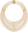 Estate Jewelry:Necklaces, Cultured Pearl, Gold Necklace . ...