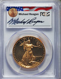 Modern Bullion Coins, 1987-W G$50 One-Ounce Gold Eagle, Michael Reagan PR70 Deep Cameo PCGS. PCGS Population: (334). NGC Census: (0)....