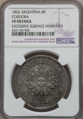 Argentina:Cordoba, Argentina: Cordoba. Republic 8 Reales 1852 VF Details (ExcessiveSurface Hairlines) NGC,...