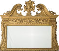 Decorative Arts, British:Other , A George II-Style Giltwood Overmantle Mirror in the Manner ofWilliam Kent, 19th century. 48 h x 56 w x 6 d inches (121.9 x ...