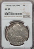 Mexico, Mexico: Charles III 8 Reales 1787 Mo-FM AU55 NGC,...