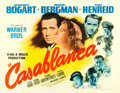 "Movie Posters:Academy Award Winners, Casablanca (Warner Brothers, 1942). Half Sheet (22"" X 28"") Style B.. ..."