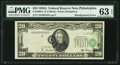 Error Notes:Shifted Third Printing, Shifted Third Printing Error Fr. 2060-C $20 1950A Federal Reserve Note. PMG Choice Uncirculated 63 EPQ.. ...