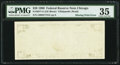 Error Notes:Blank Reverse (100%), Blank Back Printing Error Fr. 2077-G $20 1990 Federal Reserve Note. PMG Choice Very Fine 35.. ...