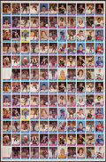 Hockey Cards:Lots, 1977 O-Pee-Chee WHA Hockey Uncut Sheet....