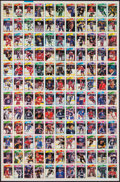 Hockey Cards:Lots, 1988-91 O-Pee-Chee Hockey Uncut Sheets (7). ...