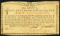 Colonial Notes:New York, New York January 6, 1776 (Water Works) 2s Extremely Fine.. ...