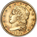 Early Quarter Eagles, 1831 $2 1/2 BD-1, R.4, MS61 NGC....