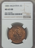 Argentina, Argentina: Republic 2 Centavos 1888 MS65 Red and Brown NGC,...