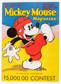 Platinum Age (1897-1937):Miscellaneous, Mickey Mouse Magazine #3 (K. K. Publications/Western PublishingCo., 1935) Condition: Apparent FN....