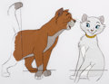 Animation Art:Production Cel, The Aristocats Thomas O'Malley and Duchess Production CelSetup (Walt Disney, 1970).... (Total: 2 )