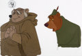 Animation Art:Production Cel, Robin Hood Friar Tuck and Little John Production Cel Setup (Walt Disney, 1973)....