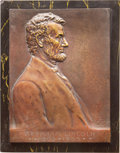 1907 Victor D. Brenner Lincoln Plaque. Cunningham-24-060Bz....(PCGS# 2425)