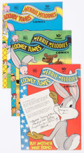 Golden Age (1938-1955):Cartoon Character, Looney Tunes and Merrie Melodies Comics #45-47 Group (Dell, 1945) Condition: Average FN/VF.... (Total: 3 Comic Books)