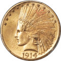 Indian Eagles, 1914 $10 MS65+ PCGS. CAC....