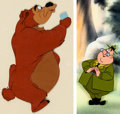 Animation Art:Production Cel, Ranger J. Audubon Woodlore/Humphrey the Bear Production Cel Group(Walt Disney, c. 1950s-60s).... (Total: 2 Items)