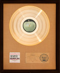 Music Memorabilia:Awards, Beatles Help! RIAA Gold Record Sales Award Presented to theArtist (Capitol MAS-2386, 1965)....