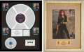 "Music Memorabilia:Awards, Bonnie Raitt Nick of Time RIAA Multi-Platinum Album Awardand ""Album of the Year"" Award (Capitol CDP 7 91268 2, 19... (Total:2 )"