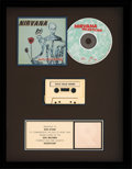 Music Memorabilia:Awards, Nirvana Incesticide RIAA Gold Record Sales Award (DGC 24504,1992)....
