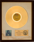 Music Memorabilia:Awards, Jimi Hendrix Rainbow Bridge RIAA White Mat Gold Record Sales Award (Reprise MS 2040, 1971)....