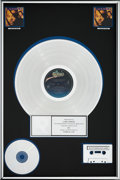 Music Memorabilia:Awards, Luther Vandross Power of Love RIAA Multi-Platinum (2x)Record Sales Award (Epic E 46789, 1991)....