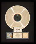 Music Memorabilia:Awards, The Band Music from Big Pink RIAA Gold Record Sales Award(Capitol SKAO-2955, 1968)....