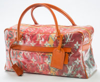 Richard Prince (b. 1949) Louis Vuitton Limited Edition Le Rose Defile Denim Pulp Weekender Bag, 2008