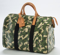 Takashi Murakami (b. 1962) Louis Vuitton Limited Edition Green Monogramouflage Canvas Speedy 35 Bag, 20