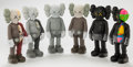 Post-War & Contemporary:Sculpture, KAWS (b. 1974). Companion (Open Edition) (set of six), 2016.Painted cast vinyl. 11 inches (27.9 cm) high (each). Each s...(Total: 6 Items)
