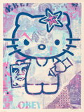 Prints:Contemporary, Shepard Fairey (b. 1970). Hello Kitty, Purple and HelloKitty, Pink (two works), 2010-12. Screenprint in colors. 24 ...(Total: 2 Items)