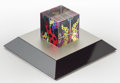 Post-War & Contemporary:Sculpture, Yayoi Kusama (b. 1929). Japanese Sentence, Love is Calling,2013. Glass cube with LED pedestal. 2 x 2 inches (5.1 x 5.1 ...