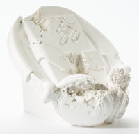Daniel Arsham (b. 1980) Cassette Player (FR-07) Plaster with glass fragments 5-3/4 inches (14.6 c