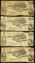 Confederate Notes:1862 Issues, T44 $1 1862 Eight Examples.. ... (Total: 8 notes)