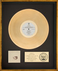 Music Memorabilia:Awards, Fleetwood Mac Tusk RIAA Gold Record Sales Award (WarnerBros. 2HS 3350, 1977)....