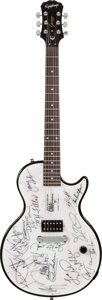 Music Memorabilia:Autographs and Signed Items, Mary Kay CMA Awards Custom Epiphone Electric Guitar Signed by Eighteen Major Country Acts (2007)....