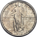 Standing Liberty Quarters, 1916 25C -- Cleaning -- PCGS Genuine. AU Details....