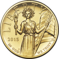 2015-W $100 High Relief One-Ounce Gold, .9999 Fine, First Strike, Moy Signature, MS70 Prooflike PCGS....(PCGS# 546098)