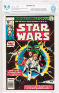 Bronze Age (1970-1979):Superhero, Star Wars #1 (Marvel, 1977) CBCS NM/MT 9.8 White pages....