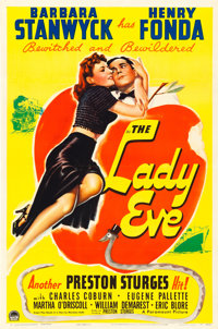 "The Lady Eve (Paramount, 1941). One Sheet (27"" X 41"")"