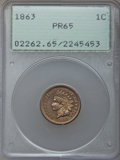 Proof Indian Cents, 1863 1C PR65 PCGS....