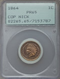 Proof Indian Cents, 1864 1C Copper-Nickel PR65 PCGS....